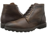 Frye William Lug Lace Up Dark Brown Wp Soft Pebbled Full Grain Men's Lace Up Boots