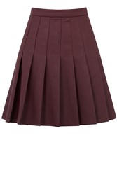 Oasis Faux Leather Skirt Burgundy