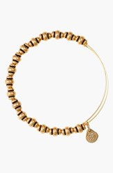 Women's Alex And Ani 'Nile' Expandable Wire Bangle Gold