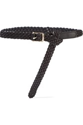 Proenza Schouler Woven Leather Belt Black