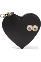Sophie Hulme Stanley And Flo Embellished Leather Pouch Black