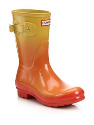 Hunter Original Color Haze Short Rain Boots Orange Yellow
