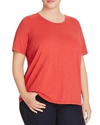 Eileen Fisher Plus Organic Cotton Heathered Tee