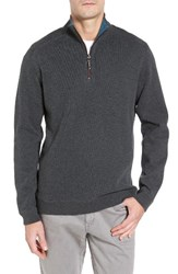 Tommy Bahama Men's Flip Side Reversible Quarter Zip Twill Pullover Turbulence Heather