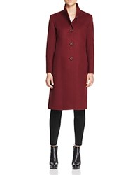 Cinzia Rocca Icons High Collar Coat Berry