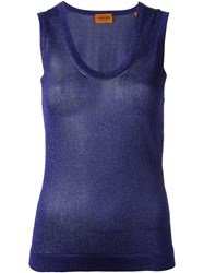 Missoni Sleeveless Knit Top Blue
