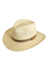 Tommy Bahama Safari Panama Straw Fedora Natural