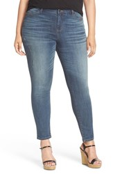 Caslonr Plus Size Women's Caslon Distressed Stretch Ankle Skinny Jeans