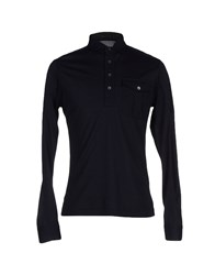 Ralph Lauren Black Label Topwear Polo Shirts Men Dark Blue