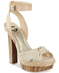 G By Guess Revail Wooden Platform Sandals Women's Shoes