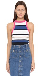 Dsquared Striped Tank Camel Blue Yellow Navy
