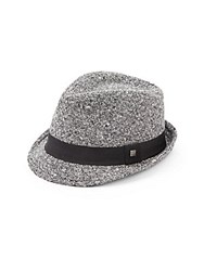 Block Headwear Tweed Fedora Black White