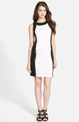 Petite Women's Michael Michael Kors Colorblock Sleeveless Ponte Sheath Dress