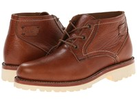 Trask Buckhorn Saddle Tan American Bison Men's Lace Up Boots Brown