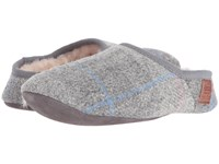 Bedroom Athletics Edith Grey Pink Check Women's Slippers Gray