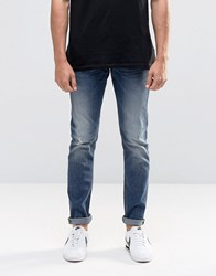 Lee Luke Skinny Jeans Nowhere Blue Distressed Nowhere Blue