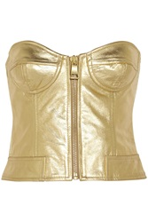 Boutique Moschino Metallic Leather Bustier