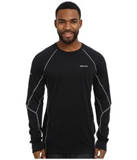 Marmot Thermalclime Sport Ls Crew Black Men's Long Sleeve Pullover