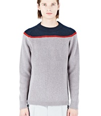 Kolor Crew Neck Knitted Sweater Grey