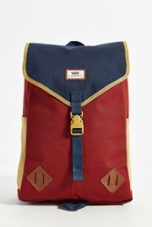 Nelson Flap Backpack Maroon