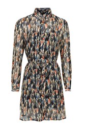 Brushstroke Print Dress By Goldie Multi