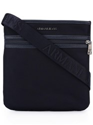 Armani Jeans Zipped Messenger Bag Blue