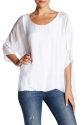 Luma Sequin Trim Dolman Blouse White