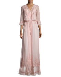Cynthia Vincent Vintage Boho Maxi Dress Blush