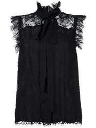 Elie Saab Lace Sleeveless Blouse Black