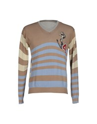 Szen Knitwear Jumpers Men Khaki