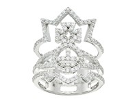 Vivienne Westwood Candice Ring Crystal Ring Gray