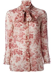 Gucci Floral Print Shirt Nude And Neutrals