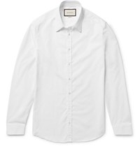 Gucci Slim Fit Cotton Poplin Shirt White