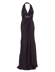 Aftershock Terencia Halter Neck Maxi Dress Purple
