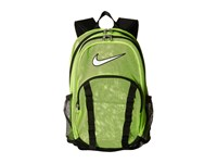 Nike Brasilia 7 Backpack Mesh Xl Volt Black White Backpack Bags Yellow