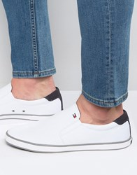 Tommy Hilfiger Harlow Slip On Plimsolls White