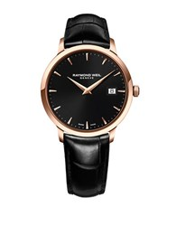 Raymond Weil Tocatta Collection Rose Gold And Stainless Steel Watch Black