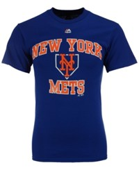 Majestic Men's New York Mets Hit And Run T Shirt Royalblue