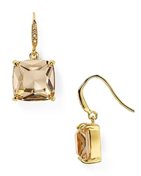 Carolee Cushion Drop Earrings Gold