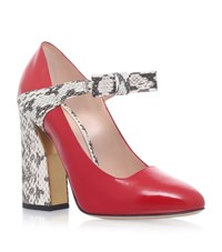 Gucci Nimue Bow Pumps 110 Female Red