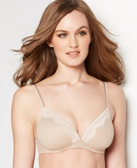 Warner's Elements Of Bliss Wireless Lift And Lace Bra Ro1981a Toasted Almond