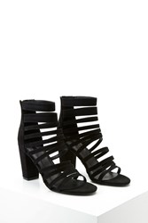 Forever 21 Strappy Faux Suede Heels Black