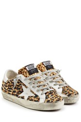 Golden Goose Embellished Haircalf Superstar Sneakers Animal Prints