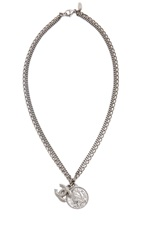Wgaca Vintage Chanel Cc And Coin Charm Necklace Silver