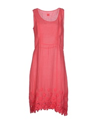 120 Lino 120 Lino Knee Length Dresses Pink