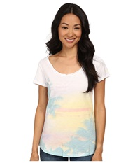 Columbia Paradise Scoop Neck Tee White Vacation Women's T Shirt