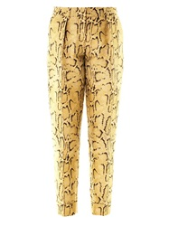 Stella Mccartney Frankie Snake Jacquard Tailored Trousers