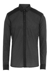 Balmain Cotton Shirt With Cut Out Detail Black