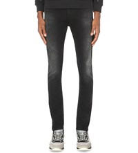 Iceberg Regular Fit Mid Rise Stretch Denim Jeans Black