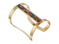 Guess Long Framed Bar Cuff Bracelet Gold Crystal Tortoise Bracelet